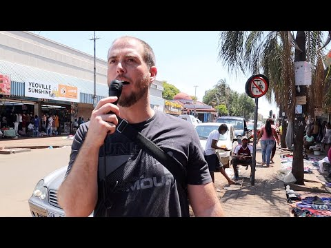 Casting Out Demons And Preaching Christ Jesus At Yeoville Market, Johannesburg, South Africa