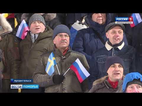 Сборная России по хоккею с мячом в матче Первенства встречается с командой Казахстана