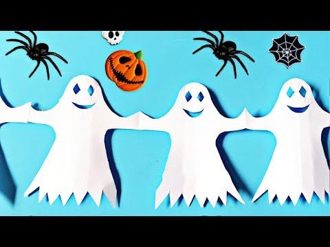 Как сделать из бумаги украшения для хэллоуина