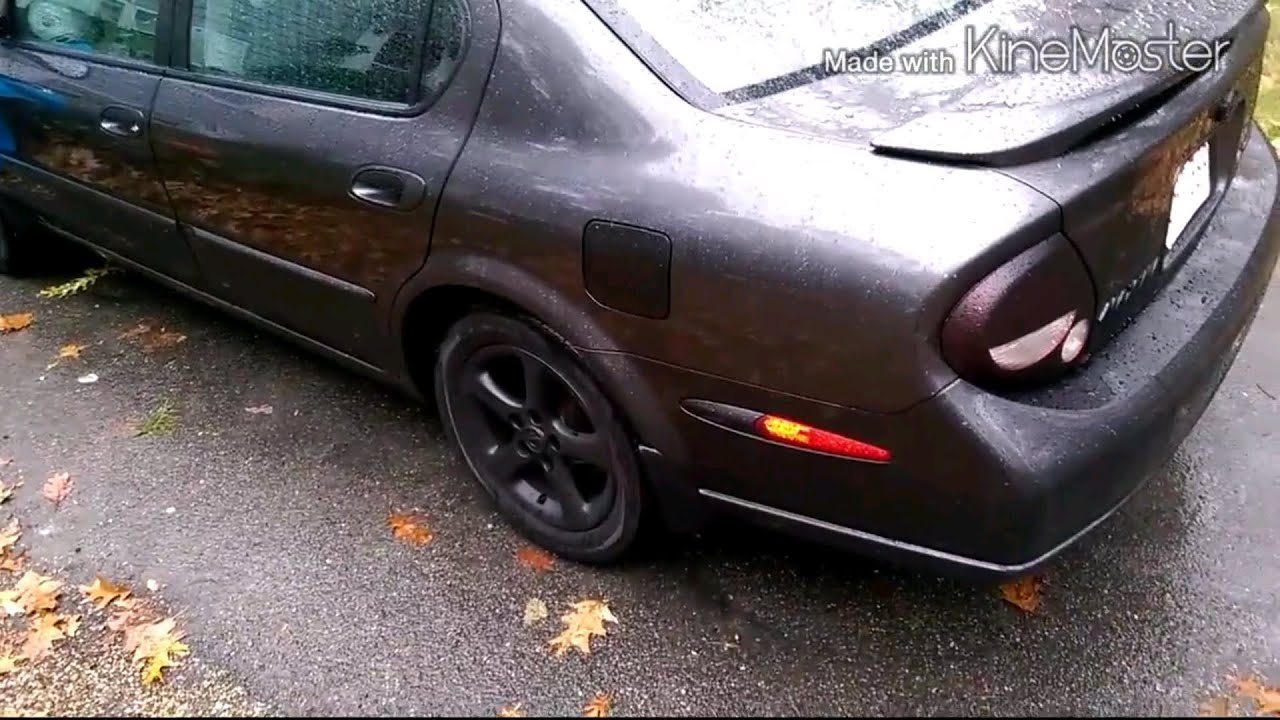 Plasti dip on a 2001 nissan maxima accessories and rims youtube vanachro Images