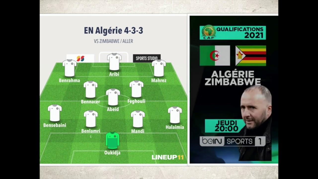 ALGERIE ZIMBABWE 2020 - MATCH QUALIFICATION CAN 2021 - CHAINE BEINSPORT 20H - ANALYSE FOOT ALGERIEN