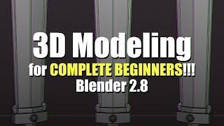 3D Modeling for Complete Beginners - Blender 2.8 - Part 1