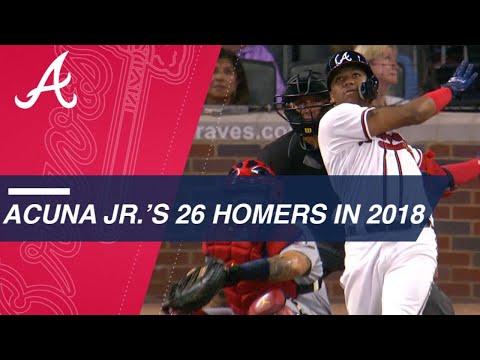 Ronald Acuna Jr.'s 26 home runs in 2018