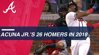 Ronald Acuna Jr.'s 26 home runs in 2018