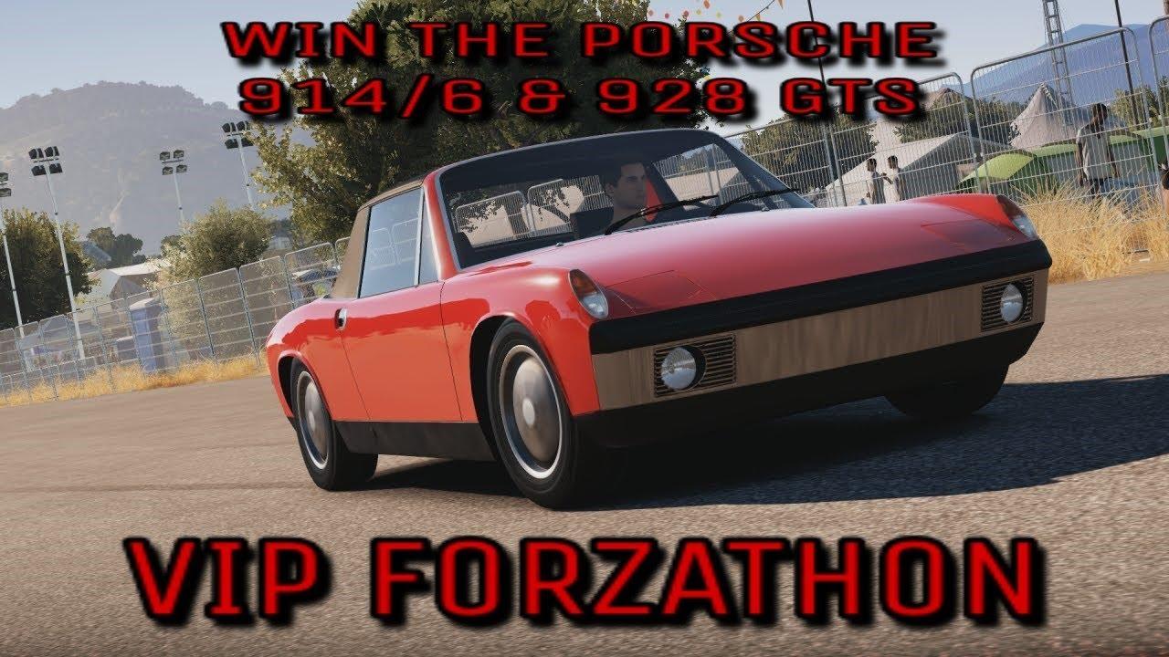 Forza Horizon 3 Vip Forzathon Win The Porsche 914 6 The Porsche 928 Gts A Youtube