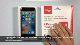 Signing Up For Verizon Wireless Prepaid Bring Your Own Device Plan