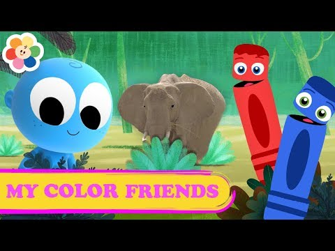 Learn Colors for Kids with Animals | Color Crew & Goo Goo Baby | Educational Videos by BabyFirst TV