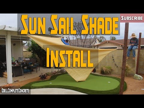 How To Install Sun Sail Shades And Decomposed Granite! Plus Price BreakDown! PART 4