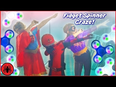 Kid Deadpool vs FIDGET SPINNER CRAZE Music Video! SuperHero Kids