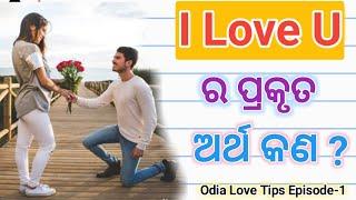 I Love U ର ପ୍ରକୃତ ଅର୍ଥ କଣ ? Odia Love Tips Episode-1