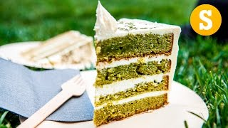 Green Matcha and White Chocolate Cake #CelebrateWithSORTED #Ad