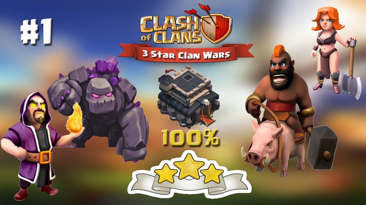 Download Clash of Clans | TH9 | 3 Star Attacks with Valkyrie GoWiHo #1