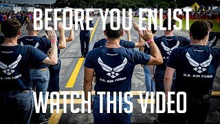 BEFORE YOU JOIN THE AIR FORCE WATCH THIS VIDEO