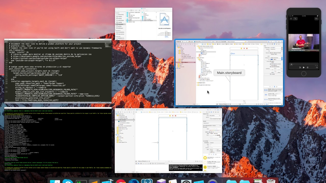 Iframe player api IOS Swift 4 0 Cocoapods instalación implementación