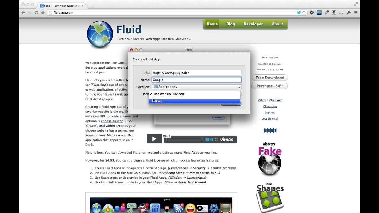 fluid app turn your favorite web app into real mac apps fluid app turn your favorite web app into real mac apps