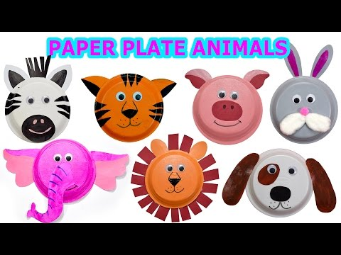 916  sc 1 st  YouTube & How to create cute animals using Paper plates Craft video for kids ...