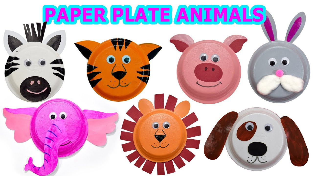 How to create Cute Animals using Paper Plates - Craft Videos for ...