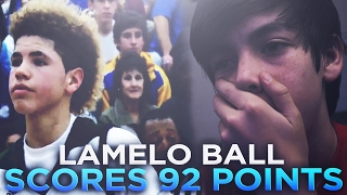 lamelo ball scores 92 points in a highschool game lamelo highlights reaction silverdc cxlbys
