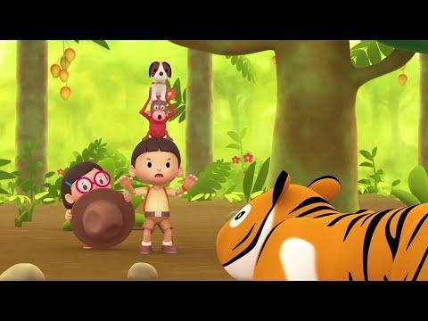 Cartoon | Sumatran Orangutan | Learning For Kids | Leo The Wildlife Ranger #103