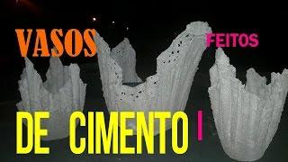 VASOS DE TOALHA E CIMENTO
