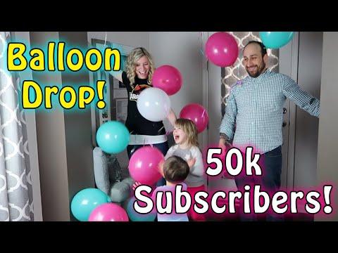 50K Subscriber BALLOON DROP Celebration! With Bunch O Balloons Party Balloons!!