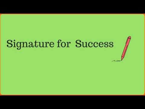IPTS004-Know Whats Up with your Signature for Success