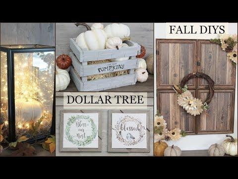 DOLLAR TREE FARMHOUSE FALL DECOR DIYS