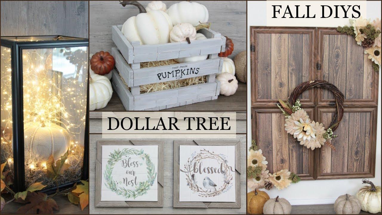Dollar Tree Farmhouse Fall Decor Diys Youtube