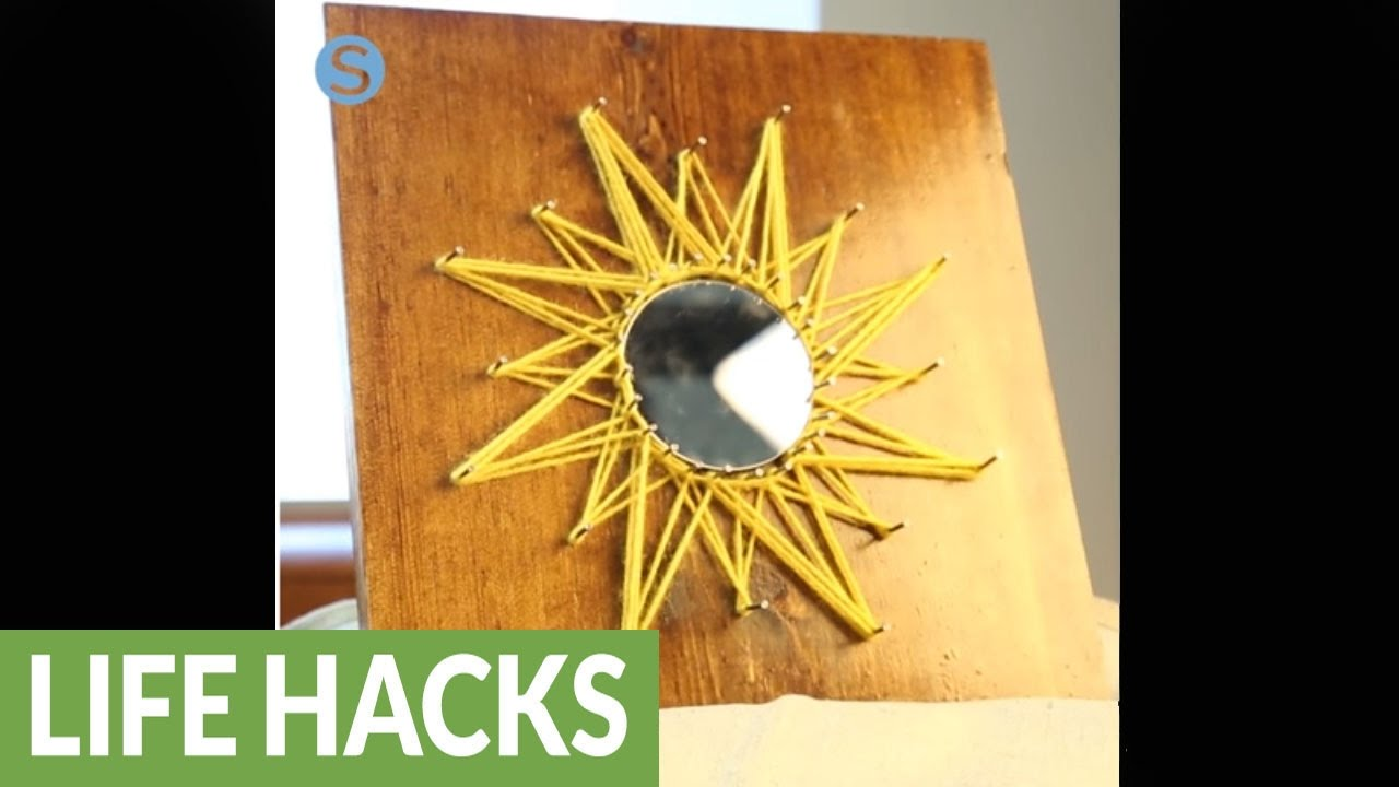 Sunburst string art: A fun and easy craft - YouTube
