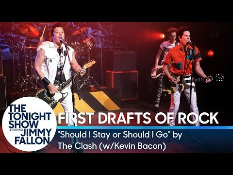 Watch Kevin Bacon, Jimmy Fallon Reimagine the Clash's 'Should I Stay or Should I Go'
