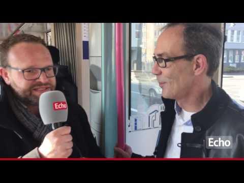 Straßenbahn-Interview mit Darmstädter OB-Wahl-Kandidat Thorsten Przygoda (unabhängig)