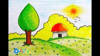 scenery easy drawing draw very step drawings paintingvalley getdrawings