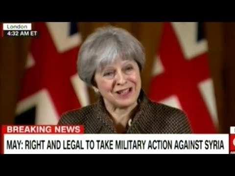 PM Theresa May Takes Questions From The Press On U.K. Attacking Syria