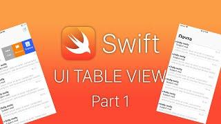 Swift 4 UITableView Xcode 10 - Таблицы и создание мини приложения - Уроки Swift - Часть 1