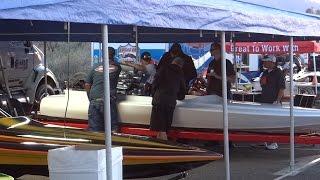 20150227192604.mts - K boat warmup - Route 66 Hot Boat & Custom Car Show 2-27-15