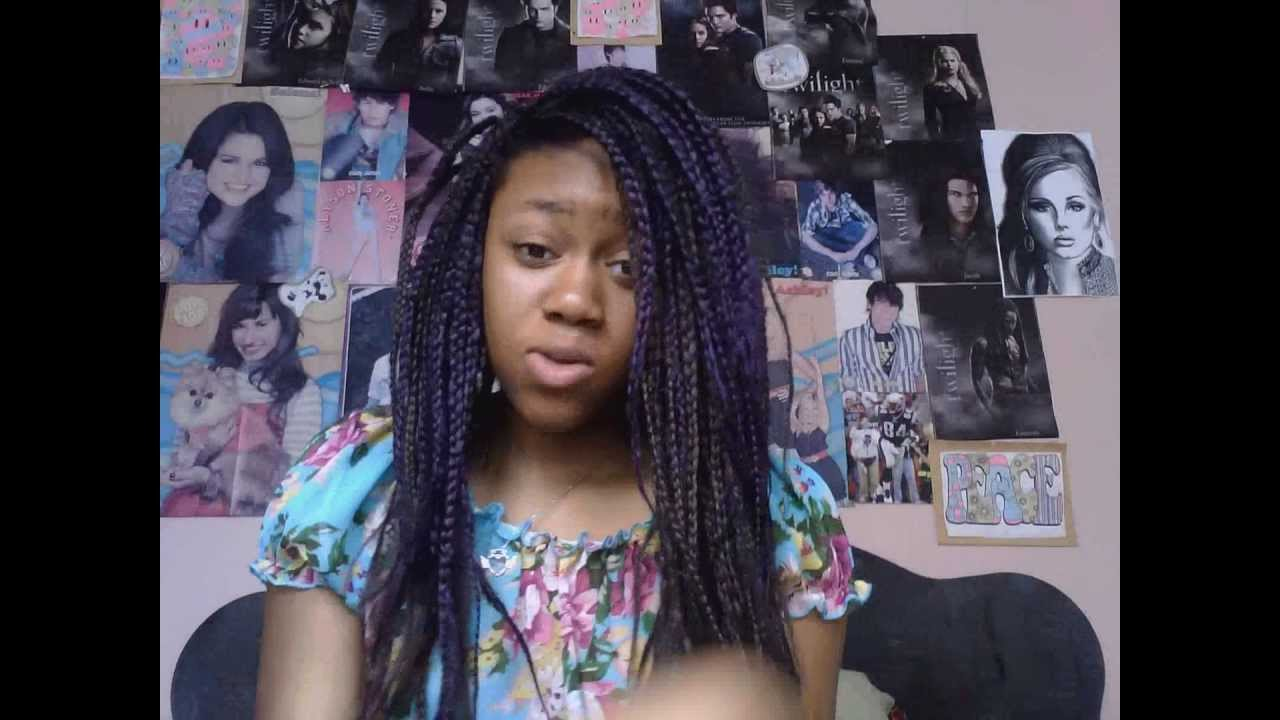 Side Part Twists For Box Braids Hair Tutorial Youtube