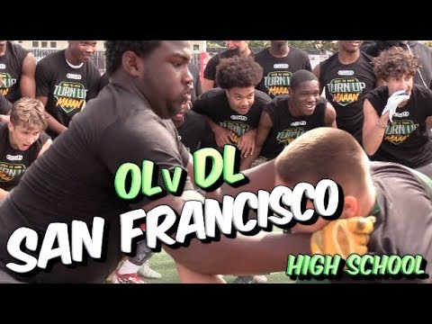 Big Boyz Put in WORK !!  Under The Radar Exposure Camp | San Francico (CA) OL v DL | 1v1s