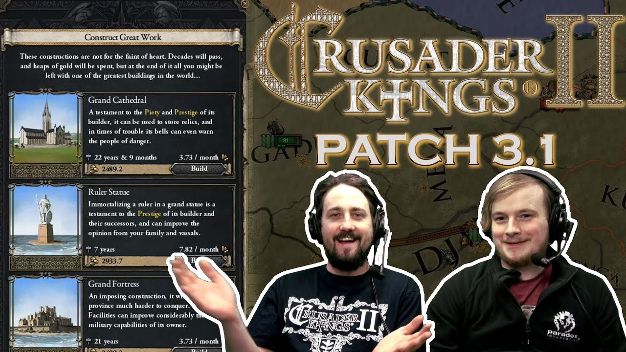 Crusader Kings 2 | Patch 3 1 - Great Works