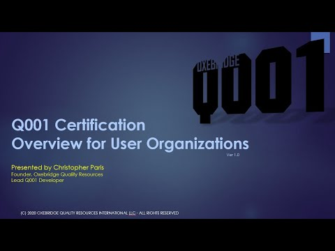 Q001 Overview for User Organizations   v 1 0 NARRATED