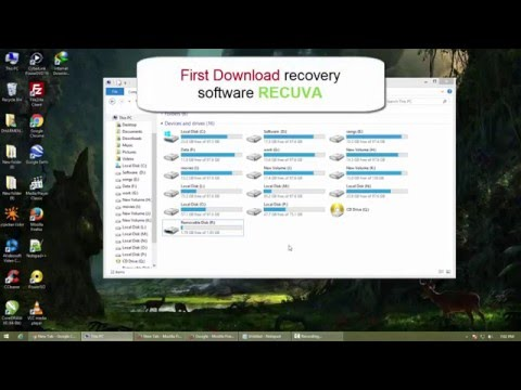 How to Recover Data Files from a Formatted Hard Disk, Pen Drive,  Memory Card