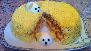 Праздничный Салат Мимоза с Сардиной (Очень Вкусно) / Мимоза Классический Рецепт (Быстро и Просто)