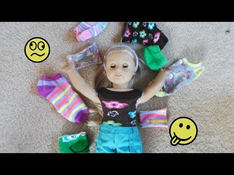 4 DIY no-sew looks for your AG doll using SOCKS!!!!!