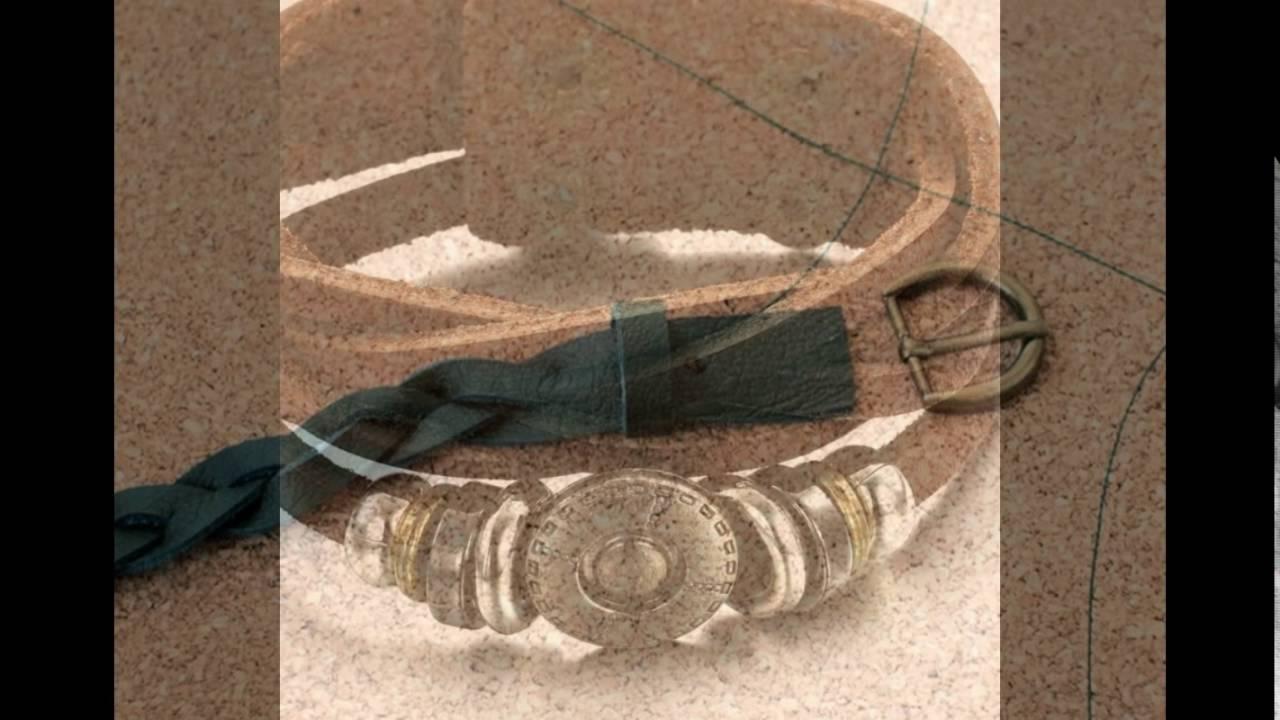 Кожаный браслет своими руками - YouTube