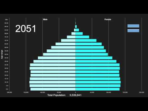 Botswana Population Pyramid 1950-2100