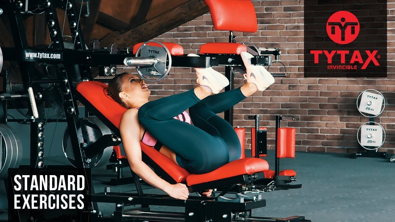 Vertical Lever Press : Tytax m seated incline lever vertical leg press youtube