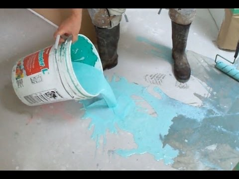 Concrete Primer Application Before Using Self Leveling Underlayment