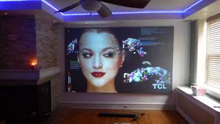FIRST ONE ON YOUTUBE with my 2018  ViewSonic PS501W 3400 Lumens WXGA HDMI Short Throw Projector!