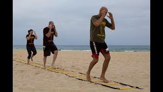 Beach Speed Ladder Drills for Happy Feet & Weight Loss