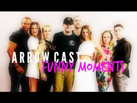 arrow cast + funny moments