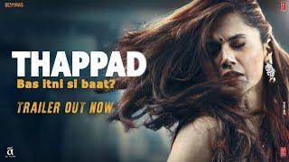 THAPPAD TRAILER: Taapsee Pannu | Anubhav Sinha |  Bhushan Kumar | Releasing 28 February 2020